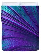 Abstract In Blue And Purple Duvet Cover