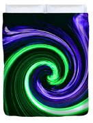 Abstract In Green And Purple Duvet Cover