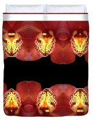 Nature In Abstract Orchid Square Duvet Cover