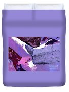 Abstract In Purple Duvet Cover