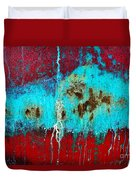 Abstract In Red 6 Duvet Cover