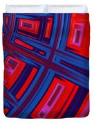 Abstract In Red And Blue Duvet Cover