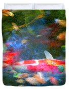 Abstract Koi 1 Duvet Cover