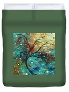 Abstract Landscape Art Original Colorful Heavy Textured Painting Cracked Facade By Madart Duvet Cover