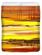 Abstract Landscape Found Reflections Duvet Cover