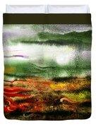 Abstract Landscape Sunrise Sunset Duvet Cover