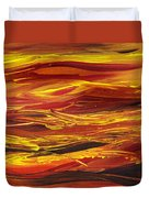 Abstract Landscape Yellow Hills Duvet Cover