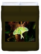 Abstract Luna Moth Painterly Duvet Cover