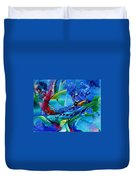 Abstract Mindscape No.5-improvisation Piano And Trumpet Duvet Cover by Wolfgang Schweizer