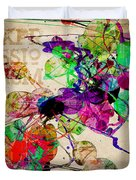 Abstract Mixed Media Duvet Cover