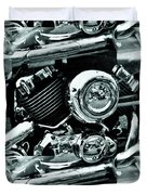 Abstract Motor Bike - Doc Braham - All Rights Reserved Duvet Cover