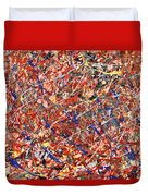 Abstract - Nail Polish - Clown Suicide Duvet Cover by Mike Savad