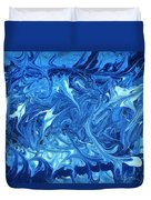 Abstract - Nail Polish - Ocean Deep Duvet Cover by Mike Savad