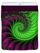 Abstract Neon Colors Fractal Duvet Cover
