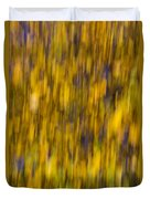 Abstract Of Autumn Gold Duvet Cover