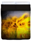 Abstract Of Sunflowers Duvet Cover