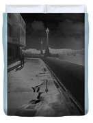 Abstract Of Thames Embankment  As Solarised Duvet Cover