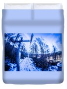 Abstract On A Ski Lift Duvet Cover