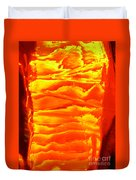 Abstract Orange Duvet Cover