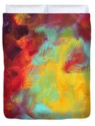 Abstract Original Painting Colorful Vivid Art Colors Of Glory I By Megan Duncanson Duvet Cover