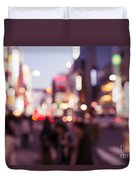 Abstract Out-of-focus City Scenery With Colorful Lights Duvet Cover