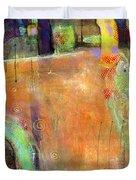 Abstract Painting Simple Pleasure Duvet Cover by Blenda Studio