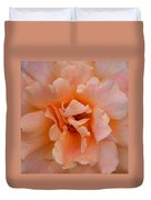 Abstract Peach Rose Duvet Cover