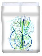 Abstract Pen Drawing Fifty-eight Duvet Cover
