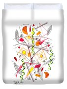Abstract Pen Drawing Fifty-five Duvet Cover