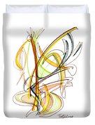 Abstract Pen Drawing Fifty-nine Duvet Cover