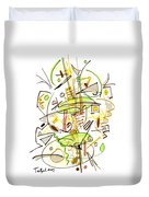 Abstract Pen Drawing Fifty-seven Duvet Cover