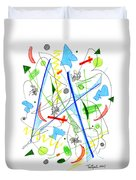 Abstract Pen Drawing Fifty-three Duvet Cover