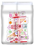 Abstract Pen Drawing Fifty-two Duvet Cover