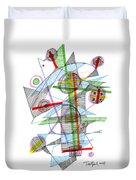 Abstract Pen Drawing Forty-nine Duvet Cover