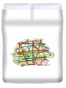 Abstract Pen Drawing Forty-seven Duvet Cover