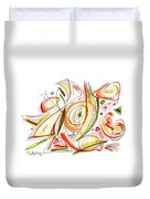 Abstract Pen Drawing Forty-six Duvet Cover