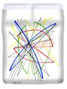 Abstract Pen Drawing Seventy-five Duvet Cover