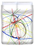 Abstract Pen Drawing Seventy-four Duvet Cover