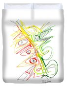 Abstract Pen Drawing Seventy-one Duvet Cover