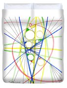 Abstract Pen Drawing Seventy-three Duvet Cover