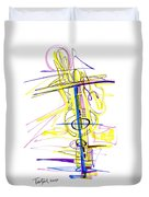 Abstract Pen Drawing Seventy-two Duvet Cover