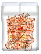 Abstract Pen Drawing Sixty-one Duvet Cover