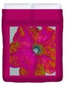 Abstract Petunia Duvet Cover