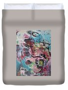 Abstract Pink Blue Painting Duvet Cover