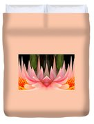 Abstract Pink Water Lily Duvet Cover
