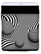 Abstract - Poke Out My Eyes Duvet Cover by Mike Savad