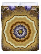 Abstract Pond In Gold Duvet Cover