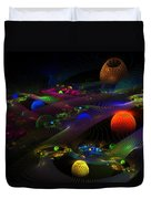 Abstract Psychedelic Fractal Art Duvet Cover