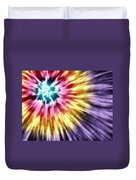Abstract Purple Tie Dye Duvet Cover