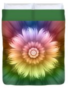 Abstract Rainbow Flower Duvet Cover